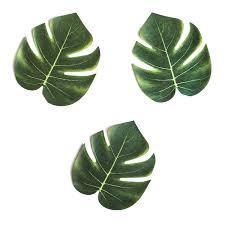 Hawaiian Decor For Home Amazon Com Tropical Imitation Plant Leaves 8