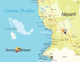 Jalisco Mexico Map by Map Mapa Riviera Nayarit Pinterest
