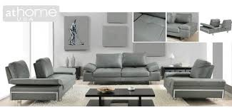 Gray Leather Sofa And Loveseat Light Grey Italian Modern Leather Sofa Loveseat Chair Set