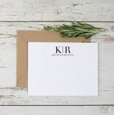 personalized thank you cards initial thank you cards 8pk monogram thank you notes