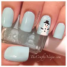 snowman nail art design youtube snowman nail art designs best