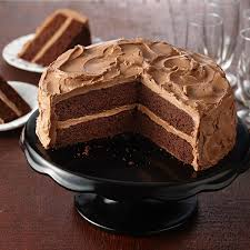 gluten free chocolate cake with chocolate buttercream frosting