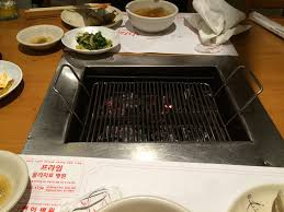 japanese restaurant cook at table the grill you get at your table to cook your own meal yelp