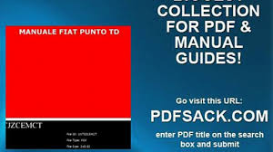 manuale fiat punto td video dailymotion