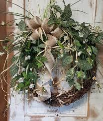 front door wreath farmhouse wedding wreath burlap wreath home