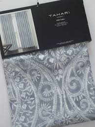 Tahari Home Drapes by Tahari Medallion 2 Window Panels Curtains Drapes Gray Silver