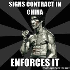 Contract Law Meme - do contracts matter in china enter china