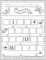 freebie 5 pages fill in the missing numbers 0 20 with the
