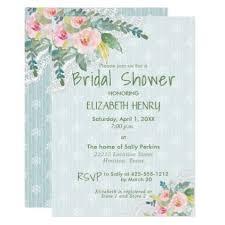 elegant shabby chic vintage floral bridal shower card bridal