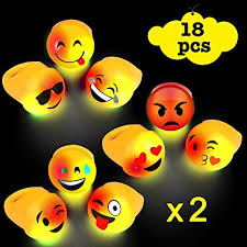 led light up rings amazon com acooe light up emoji rings bulk led light up toys for