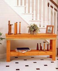 entry hall table wood furniture plans immediate download