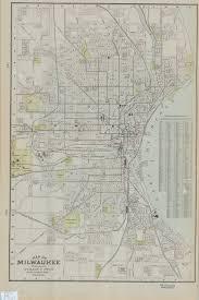 Map Of Milwaukee 1901 Map Of Milwaukee Milwaukee Neighborhoods Uwm Libraries