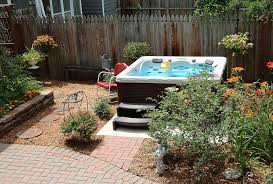 a backyard backyard ideas for hot tubs and swim spas