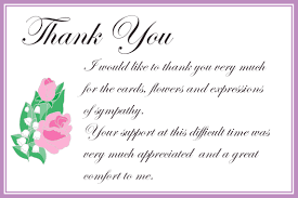 thank you for sympathy card printable thank you cards free printable greeting cards