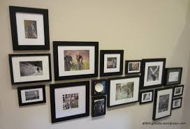 decorating stairwell collage picture frames for wall decoration