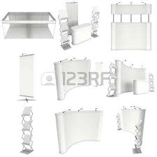 Pop Up Reception Desk with Trade Show Booth Set Roll Up Pop Up With Reception Desk 3d