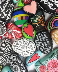 Painting Rocks For Garden A Family Rock Garden Inspiration Pinterest Rock Gardens And