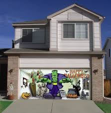 garage doors diy garage door halloween decorations youtube
