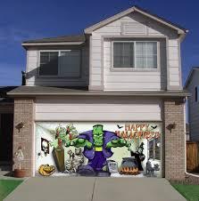garage doors diy garage door halloween decorations youtube