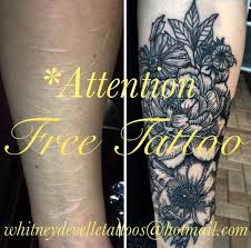 tattoo artist offers free tattoos to people with self harm scars