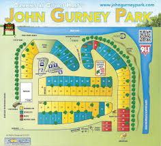 Michigan Campgrounds Map by Maps John Gurney Park