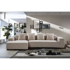 Overstock Sectional Sofas Modern Fabric Sectional Sofa Lyon Free Shipping Today