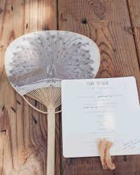 wedding fans programs 11 wedding program fans to keep guests cool martha stewart weddings