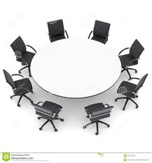 round table with chairs office chairs and round table stock photo image of difference