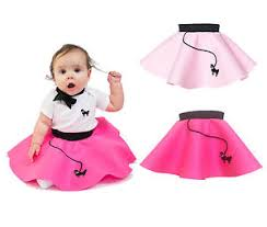 Infant Girls Halloween Costumes Hip Hop 50s Shop Baby Infant Girls 6 12 Month Poodle Skirt