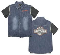Harley Davidson Baby Bed Set Harley Davidson Little Boys U0027 Frayed Denim Blow Out Shirt 2 Piece