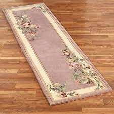 floral bouquet dusty mauve rug runner