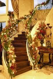 Christmas Railing Decorations Love Christmas Stairways Home Pinterest Stairways