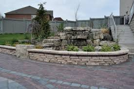 Unilock Walls Rivercrest Garden Wall And Paver Walkway By Unilock Tile