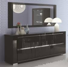 Black Gloss Sideboards Harmony Black 3 Or 2 Door High Gloss Sideboard With Opt Led