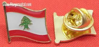 Libanese Flag Country Flag Lapel Hat Cap Tie Pin Badge Lebanese Brooch