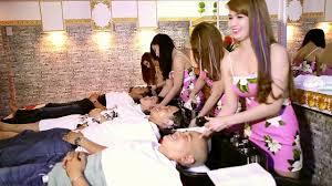 fem boys at the hair salon beauty salon spa in saigon vietnam loc như y youtube