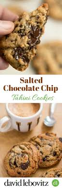 hervé cuisine cookies salted chocolate chip tahini cookies png