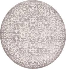 light gray 6 u0027 x 6 u0027 new vintage round rug area rugs esalerugs