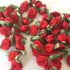 satin roses 20 ribbon roses satin ribbon roses satin roses sew on