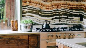 Kitchen Trends To Try Now Sunset - Onyx backsplash