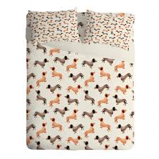 home decor bed sheets darling dachshunds sheet set wonder forest