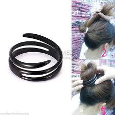 bun holder diy hair styling spiral updo donut bun clip fast tool formal