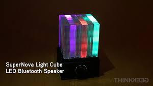 led light bluetooth speaker supernova light cube led bluetooth speaker from thinkgeek youtube