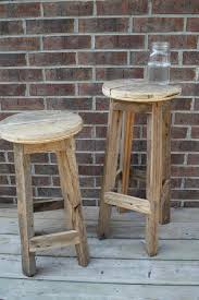 Rustic Bars Furniture Rustic Bar Stools With Brick Wall Design And Small
