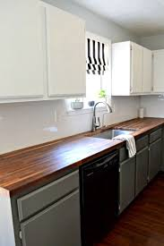 prep and paint cabinets without sanding walnut butcher block