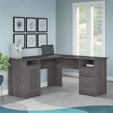L Shaped Office Desk With Hutch L Shaped Desks You Ll Wayfair