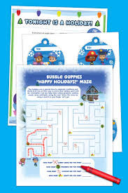 bubble guppies holiday activity pack nickelodeon parents