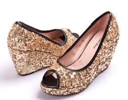 gold wedding shoes for wedding shoes ideas open toes gold wedge shoes for wedding