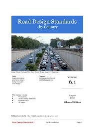road design standards 6 1