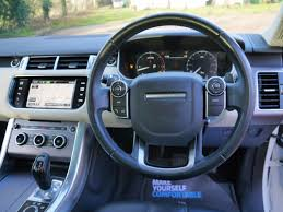 range rover steering wheel used fuji white land rover range rover sport for sale hertfordshire